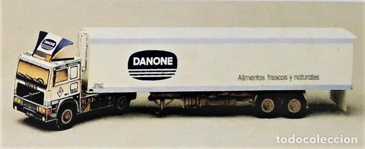 RECORTABLE CAMION TRACTOR VOLVO F-12 DANONE (Coleccionismo - Recortables - Transportes)