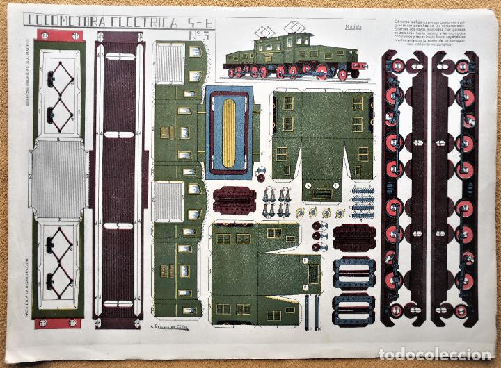 RECORTABLE LOCOMOTORA ELECTRICA 5B - Nº 3 (Coleccionismo - Recortables - Transportes)