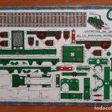 Coleccionismo Recortables: RECORTABLE LOCOMOTORA DEL CENTENARIO DEL F.C. BARCELONA - MATARÓ. Lote 204231536