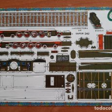 Coleccionismo Recortables: RECORTABLE LOCOMOTORA DE VAPOR 242. Lote 204231545