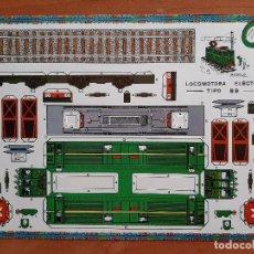 Coleccionismo Recortables: RECORTABLE LOCOMOTORA ELÉCTRICA TIPO BB. Lote 204231558