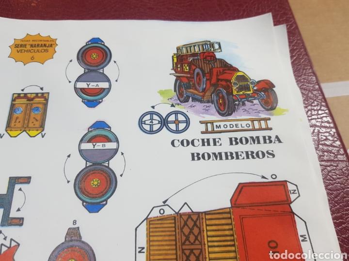 Coleccionismo Recortables: Recortable coche bomba bomberos editorial Roma serie naranja - Foto 2 - 262470040