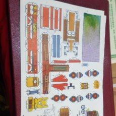 Coleccionismo Recortables: RECORTABLE COCHE BOMBA BOMBEROS EDITORIAL ROMA SERIE NARANJA. Lote 262470040