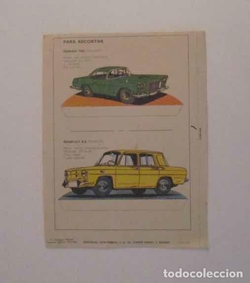 RECORTABLE RENAULT R-8 Y FERRARI 1960 (Coleccionismo - Recortables - Transportes)