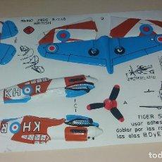 Coleccionismo Recortables: JUGUETE RECORTABLE. AVIÓN MILITAR TIGER SHARK. Lote 205457916