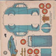 Coleccionismo Recortables: LAMINA RECORTABLES TRANSPORTES BRUGUERA TURISMO INGLES FAIRCHILD 1959. Lote 206381456
