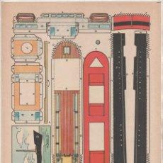 Coleccionismo Recortables: RECORTABLE BARCO - MODELO PLA , 30 X 21 CM, BUEN ESTADO. Lote 206381748