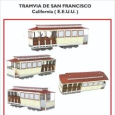 Coleccionismo Recortables: MAQUETA RECORTABLE DEL TRANVIA DE SAN FRANCISCO ( CALIFORNIA-EEUU). Lote 228244615