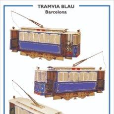 """Colecionismo Recortáveis: MAQUETA RECORTABLE DEL TRANVIA """"BLAU""""( BARCELONA). Lote 218636183"""