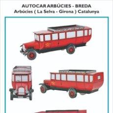 Coleccionismo Recortables: MAQUETA RECORTABLE DEL AUTOCAR FABRICADO EN ARBÚCIES (GIRONA). Lote 218636198