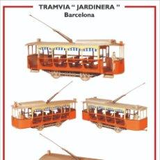 """Colecionismo Recortáveis: MAQUETA RECORTABLE DEL TRANVIA """" JARDINERA"""" ( BARCELONA). Lote 218636243"""