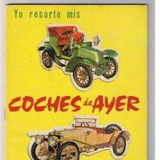 Coleccionismo Recortables: COCHES DE AYER RECORTABLES RAKER 1965. Lote 212105318