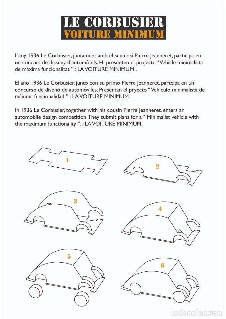 "Coleccionismo Recortables: MAQUETA RECORTABLE DE LA ""VOITURE MINIMUM"" DE LE CORBUSIER - Foto 2 - 278949678"