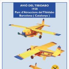Coleccionismo Recortables: MAQUETA RECORTABLE DEL AVIÓN DEL PARQUE DE ATRACCIONES DEL TIBIDABO ( BARCELONA). Lote 252698870