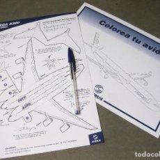 Coleccionismo Recortables: RECORTABLE PUBLICITARIO Y HOJA PARA COLOREAR - PLIEGA Y COLOREA AIRBUS A380. Lote 214174303