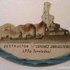 Coleccionismo Recortables: EJERCITO POPULAR DESTRUCTOR SANCHEZBARCAIZTEGUI SALIAN EN LA REVOLUCION EN LAS SORPRESAS. Lote 215285133