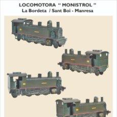 """Coleccionismo Recortables: MAQUETA RECORTABLE DE LA LOCOMOTORA """"MONISTROL"""". Lote 219344033"""