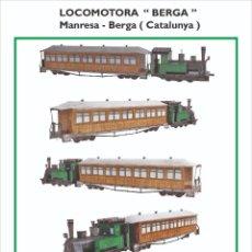 """Coleccionismo Recortables: MAQUETA RECORTABLE DE LA LOCOMOTORA """"BERGA"""". Lote 219344042"""