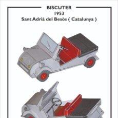 Coleccionismo Recortables: MAQUETA RECORTABLE DEL BISCUTER ( BARCELONA). Lote 220385372