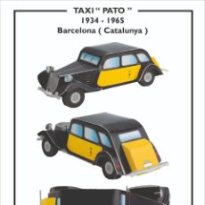 Coleccionismo Recortables: MAQUETA RECORTABLE DE ANTIGUO TAXI ( BARCELONA). Lote 221779303