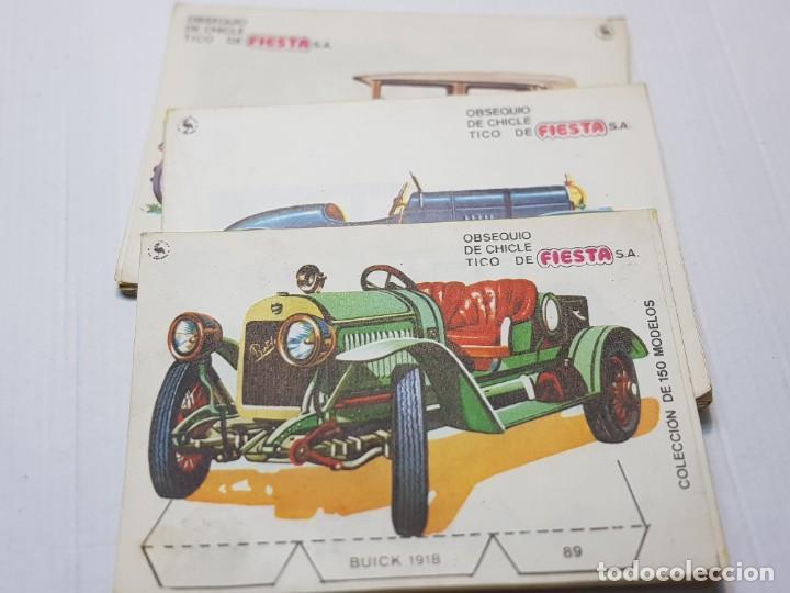 CHICLE FIESTA LOTE 60 RECORTABLES TICO CONSECUTIVOS (Coleccionismo - Recortables - Transportes)