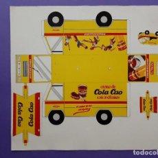 Coleccionismo Recortables: RECORTABLE PUBLICIDAD COLACAO CAMION REPARTO MATRICULA BARCELONA 1977 S. Lote 225720640