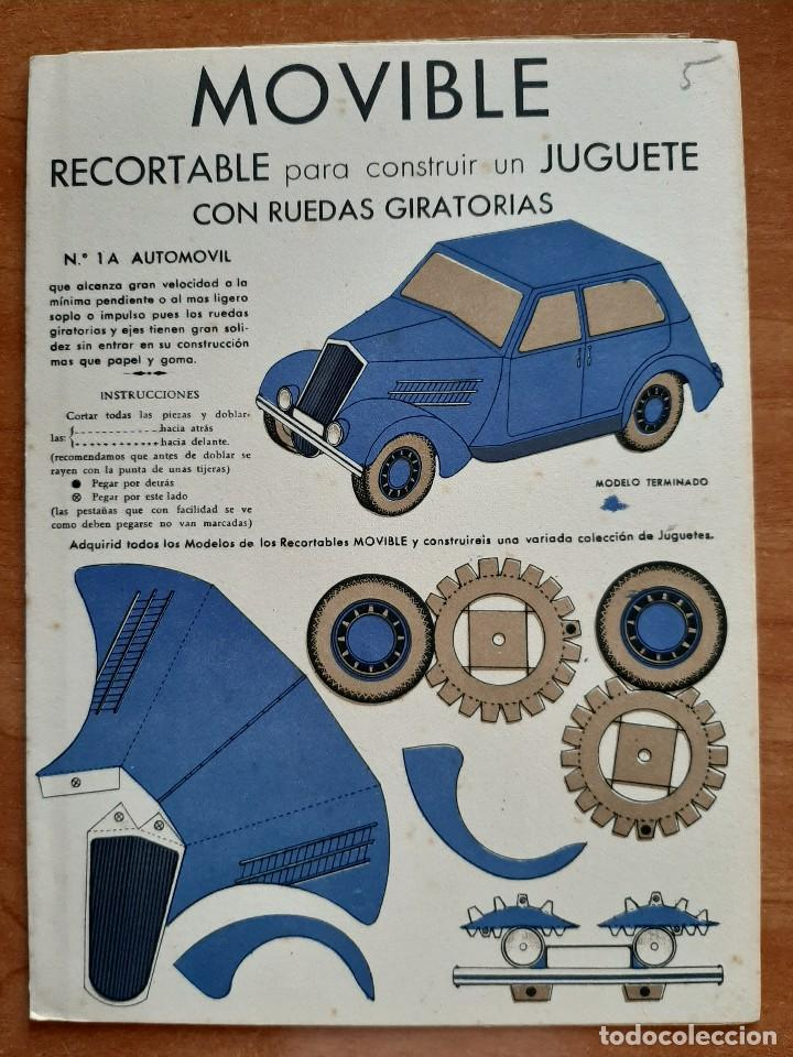 RECORTABLE PARA CONSTRUIR UN JUGUETE CON RUEDAS GIRATORIAS - Nº 1 A (Coleccionismo - Recortables - Transportes)