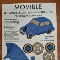Coleccionismo Recortables: RECORTABLE PARA CONSTRUIR UN JUGUETE CON RUEDAS GIRATORIAS - Nº 1 A. Lote 226382470