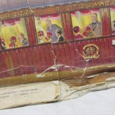 Coleccionismo Recortables: RECORTABLE ITALIANO ANTIGUO, VAGÓN COMEDOR DE TREN. Lote 226397175