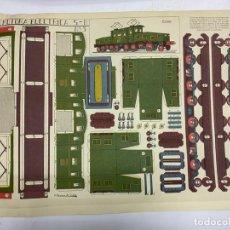 Coleccionismo Recortables: RECORTABLE LOCOMOTORA ELECTRICA 5-B Nº 3. GRAFICAS REUNIDAS. A. ROMERO DE CIDON. VER. Lote 228265985