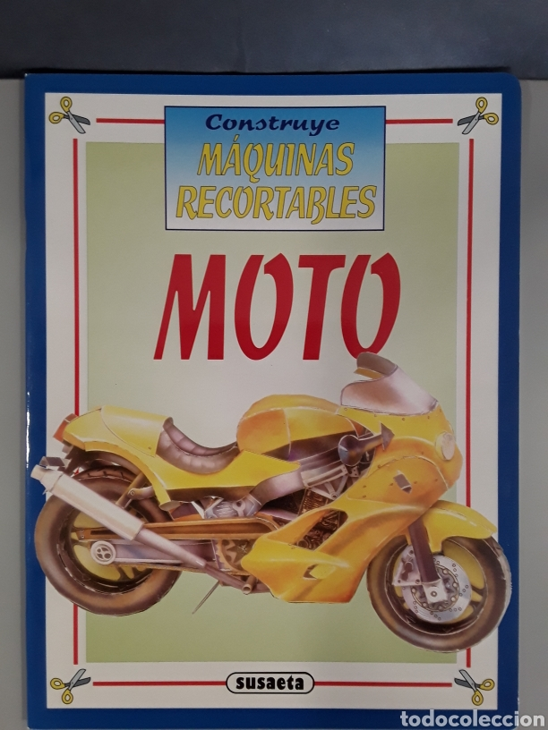 LIBRO MAQUINAS RECORTABLES MOTO EDITORIAL SUSAETA (Coleccionismo - Recortables - Transportes)