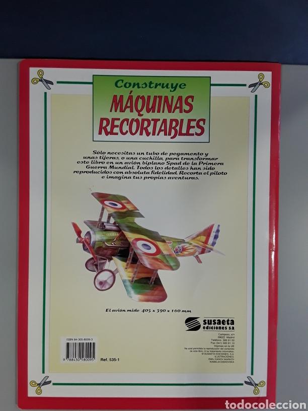 Coleccionismo Recortables: LIBRO RECORTABLE MAQUINAS EN ACCION AVION SPAD EDITORIAL SUSAETA - Foto 2 - 230622635