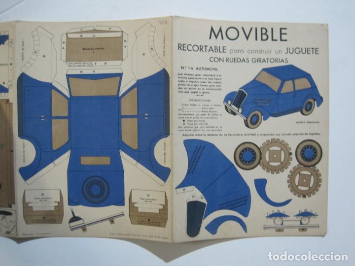 Coleccionismo Recortables: MOVIBLE RECORTABLE-COCHE CON RUEDAS GIRATORIAS-RECORTABLE ANTIGUO-VER FOTOS-(K-1465) - Foto 3 - 231671465