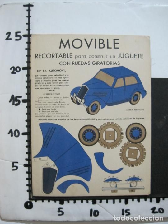 Coleccionismo Recortables: MOVIBLE RECORTABLE-COCHE CON RUEDAS GIRATORIAS-RECORTABLE ANTIGUO-VER FOTOS-(K-1465) - Foto 6 - 231671465