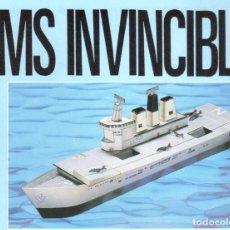 Coleccionismo Recortables: RECORTABLE BARCO HMS INVINCIBLE. RIALP 1990. Lote 232747130