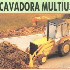 Coleccionismo Recortables: RECORTABLE ESCAVADORA MULTIUSO. RIALP 1990. Lote 232747710