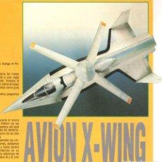 Coleccionismo Recortables: RECORTABLE AVION X-WING. RIALP 1990. Lote 232748310