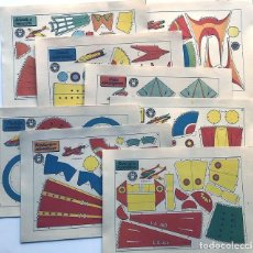 Coleccionismo Recortables: COLECCION - AERONAVES / SERIE COMPLETA - 8 LAMINAS / BRUGUERA AÑOS 50 / MUNDO INFANTIL. Lote 233003610