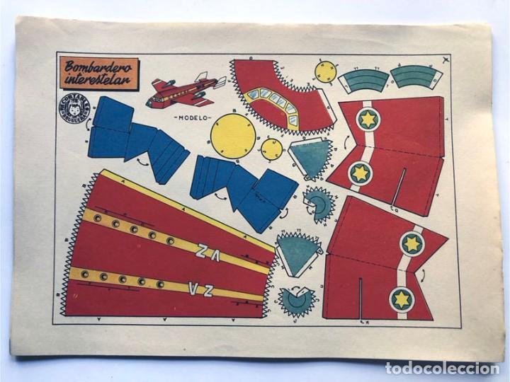 Coleccionismo Recortables: COLECCION - AERONAVES / SERIE COMPLETA - 8 LAMINAS / BRUGUERA AÑOS 50 / MUNDO INFANTIL - Foto 3 - 233003610