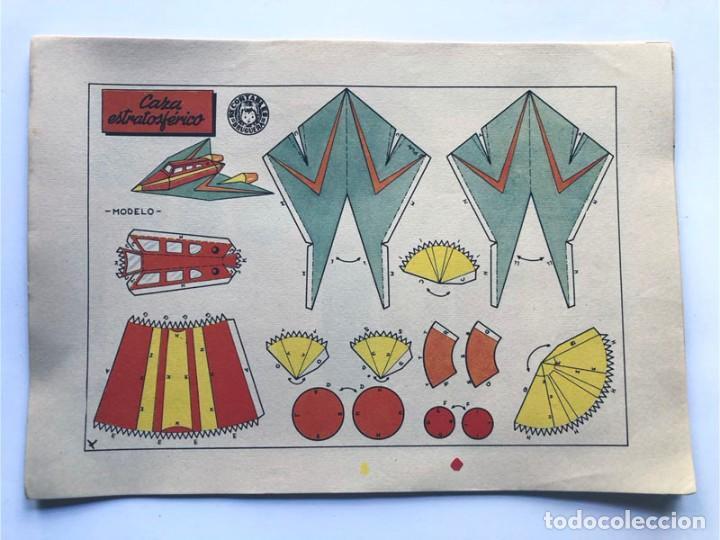 Coleccionismo Recortables: COLECCION - AERONAVES / SERIE COMPLETA - 8 LAMINAS / BRUGUERA AÑOS 50 / MUNDO INFANTIL - Foto 6 - 233003610