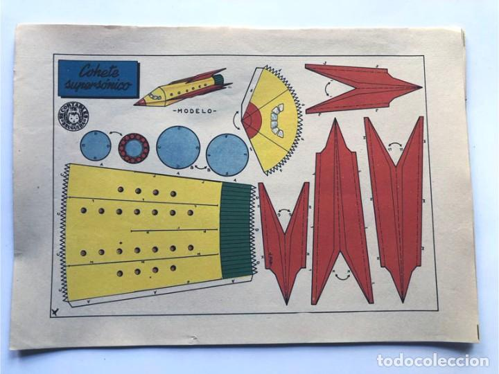 Coleccionismo Recortables: COLECCION - AERONAVES / SERIE COMPLETA - 8 LAMINAS / BRUGUERA AÑOS 50 / MUNDO INFANTIL - Foto 7 - 233003610