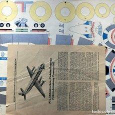Coleccionismo Recortables: RECORTABLE AVIÓN PTL-MITTELSTRECKEN- VERKEHRSFLUGZEUG. VICKERS ARMSTRONG VISCOUNT 803. Lote 234339345