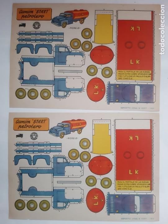 Coleccionismo Recortables: 11 ANTIGUOS RECORTABLES BRUGUERA 1959 COCHE CARRERAS DESCAPOTABLE INGLES JEEP FAIRCHILD CAMION RV - Foto 5 - 236882810