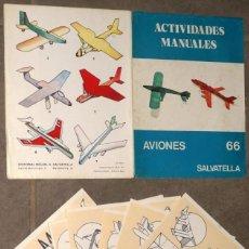 Coleccionismo Recortables: 8 MAQUETAS RECORTABLES AVIONES. Lote 238338165