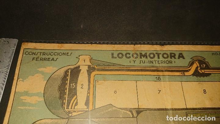 Coleccionismo Recortables: RECORTABLE , LOCOMOTORA Y SU INTERIOR , CONSTRUCCIONES FERREAS , HOJA SUPLEMENTO R. LEER DESCRIPCION - Foto 2 - 239806825