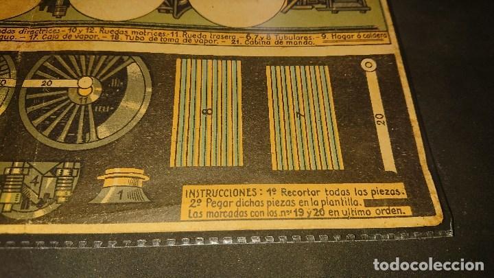 Coleccionismo Recortables: RECORTABLE , LOCOMOTORA Y SU INTERIOR , CONSTRUCCIONES FERREAS , HOJA SUPLEMENTO R. LEER DESCRIPCION - Foto 3 - 239806825