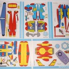 Coleccionismo Recortables: 7 MAQUETAS RECORTABLES 1 COCHE ,1 VELERO, 5 AVIONES. Lote 240337035