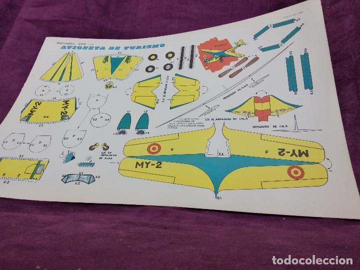 Coleccionismo Recortables: Hoja con recortable de Vehículos, Avioneta de Turisom, Recortables Eva, 1965, unos 45 x 30 cms. - Foto 2 - 242046755