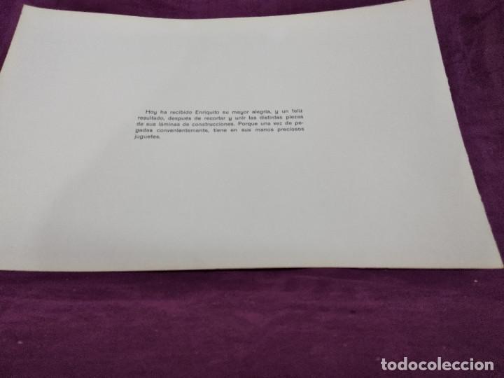 Coleccionismo Recortables: Hoja con recortable de Vehículos, Avioneta de Turisom, Recortables Eva, 1965, unos 45 x 30 cms. - Foto 7 - 242046755