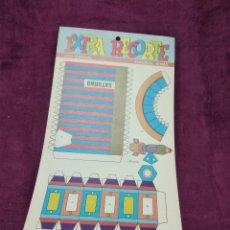 Coleccionismo Recortables: PLIEGO CON RECORTABLES DE TRANSPORTE, SATURNO, SERIE ESPACIAL, ED. ROMA, 1973, UNOS 70 X 20 CMS.. Lote 242057425